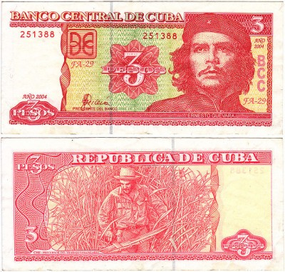 cuban nationa peso che guevara