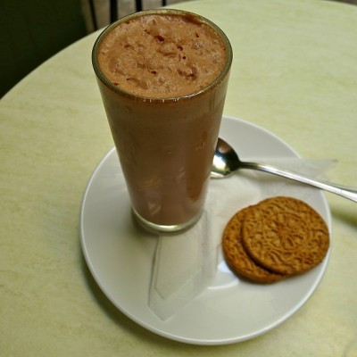 Cold Chocolate at Museo del Chocolate in Hhavana Cuba